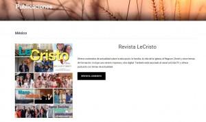 También en la sección de publicaciones se pueden ver y descargar algunas revistas elaboradas por el Movimiento Regnum Christi.
