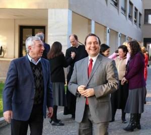 Mario Olivieri durante un momento de convivencia en las reuniones de los gobiernos generales con la comisión de miembros de 1º y 2º grado del Regnum Christi que se llevó a cabo en Roma en marzo de 2014.