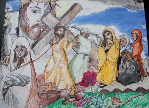 Via Crucis realizado por algunos religiosos legionarios