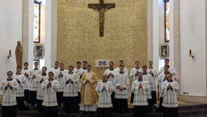 Recepción del ministerio del lectorado de religiosos en Roma