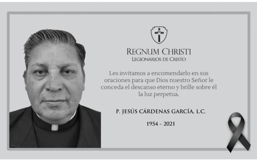 Fallece en Cancún el P. Jesús Cárdenas García, LC